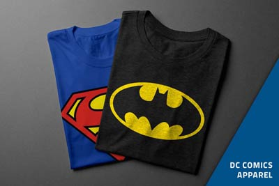 DC Comics products now on sale
