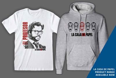 El Casa De Papel products now on sale